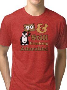 Cute 90th Birthday Gift For Women Tri-blend T-Shirt
