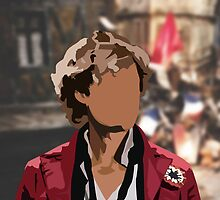Aaron Tveit as Enjolras silhouette  by Johanna Martinez