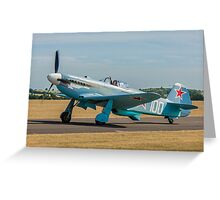 New-build Yakovlev Yak-3M G-CGXG taxying Greeting Card