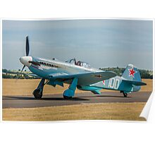 New-build Yakovlev Yak-3M G-CGXG taxying Poster