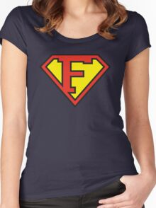 Super Initials Tee - F Women's Fitted Scoop T-Shirt