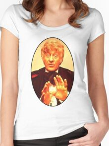 John Pertwee (3rd Doctor) Women's Fitted Scoop T-Shirt