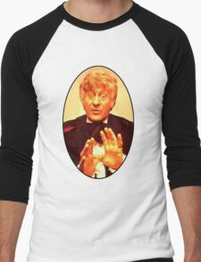 John Pertwee (3rd Doctor) Men's Baseball ¾ T-Shirt