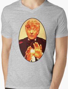 John Pertwee (3rd Doctor) Mens V-Neck T-Shirt