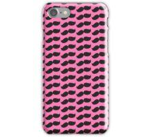Mustache (Pink) iPhone Case/Skin