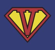 Super Initials Tee - V by NerdUniversitee