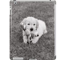 Golden Retriever puppy and toy iPad Case/Skin