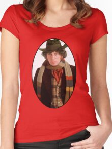 Tom Baker (4th Doctor) Women's Fitted Scoop T-Shirt