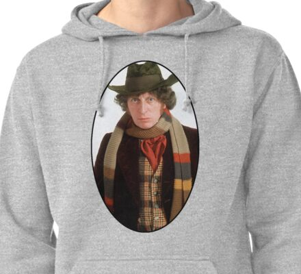 Tom Baker (4th Doctor) Pullover Hoodie