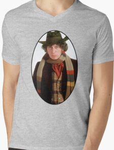 Tom Baker (4th Doctor) Mens V-Neck T-Shirt