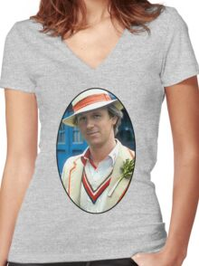 Peter Davison (5th Doctor) Women's Fitted V-Neck T-Shirt