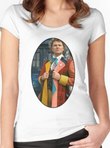 Colin Baker (6th Doctor) Women's Fitted Scoop T-Shirt