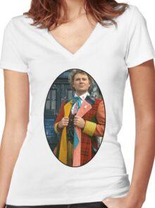 Colin Baker (6th Doctor) Women's Fitted V-Neck T-Shirt