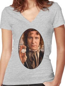 Paul McGann (8th Doctor) Women's Fitted V-Neck T-Shirt