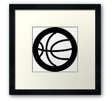 Basketball Ideology Framed Print