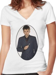 David Tennant (10th Doctor) Women's Fitted V-Neck T-Shirt