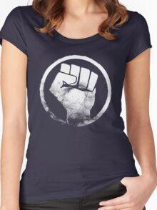 Revolution fist T-Shirt Women's Fitted Scoop T-Shirt