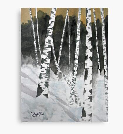 Birch tree art print Canvas Print
