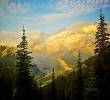 Mt. Rainier Glows by MaBelle Photography