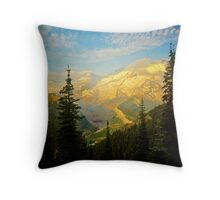 Mt. Rainier Glows Throw Pillow