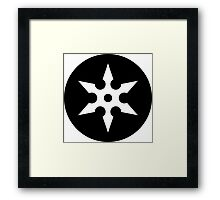 Ninja Shuriken Ideology Framed Print