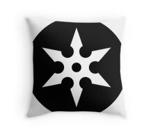 Ninja Shuriken Ideology Throw Pillow