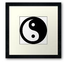 Yin Yang Ideology Framed Print