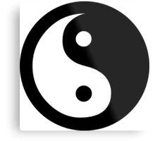 Yin Yang Ideology Metal Print