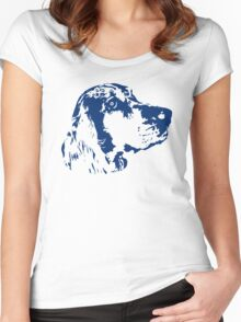Dog head Women's Fitted Scoop T-Shirt