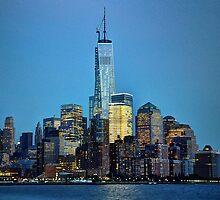 Freedom Tower at Night by Poete100
