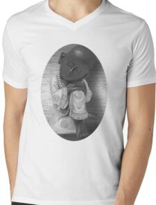 。◕‿◕。 LITTLE MONK TEE SHIRT 。◕‿◕。 Mens V-Neck T-Shirt