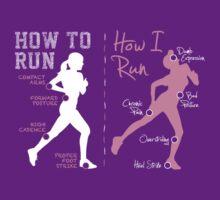 How I Run (Women) - dark garments by Teardown