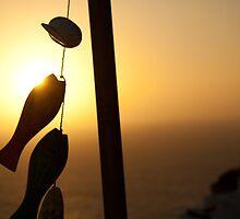 Sunset on Santorini, Greece. by GHeathcote