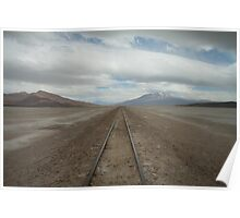 Railway through the desert. Poster