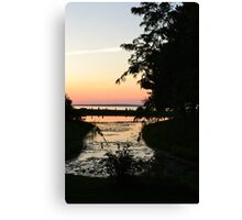 Pink Sky in the Distance Canvas Print