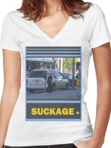 Bad Enough To Be Driving A Beater Women's Fitted V-Neck T-Shirt