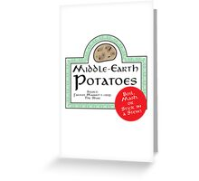 Middle-Earth Potatoes Greeting Card