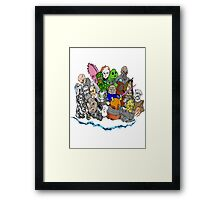 Doctor Who Enemies Framed Print