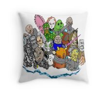 Doctor Who Enemies Throw Pillow