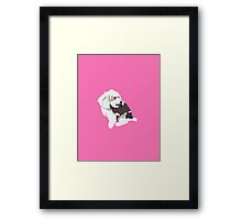 Hot Pink Pup Framed Print