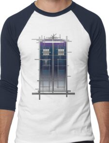Tardis (White) Men's Baseball ¾ T-Shirt