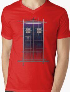 Tardis (White) Mens V-Neck T-Shirt