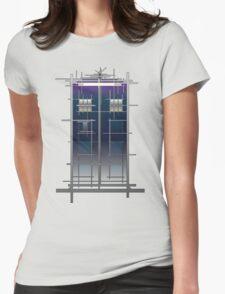 Tardis (White) Womens Fitted T-Shirt