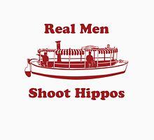 Real Men Shoot Hippos Unisex T-Shirt