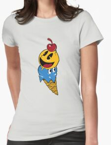 Pac Man Ice Cream Cwned Womens Fitted T-Shirt