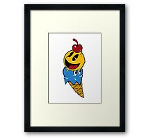 Pac Man Ice Cream Cwned Framed Print