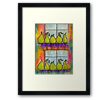 For the Love of Pears Framed Print