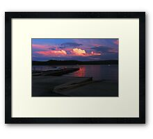 A Perfectly Horrible Day Ruined by a Great Sunset Framed Print