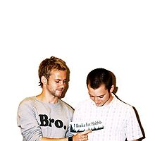 Dominic Monaghan and Elijah Wood by PaytonGilley