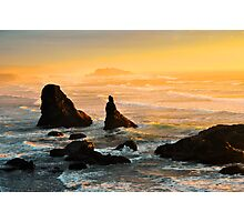 Golden Hour on the Oregon Coast Photographic Print